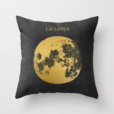 Gold Moon Throw Pillow
