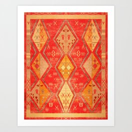 N254 - Oriental Heritage Antique Traditional Tropical Color Moroccan Style Art Print