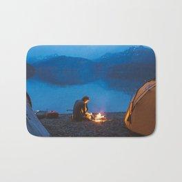 Camp on North Sea Island Bath Mat