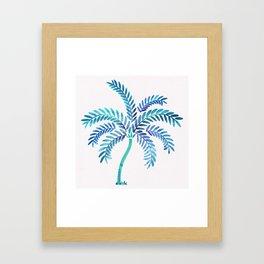 Whimsical Watercolor Palm Tree Framed Art Print