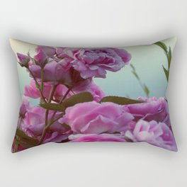 Roses by the lake #society6 Rectangular Pillow