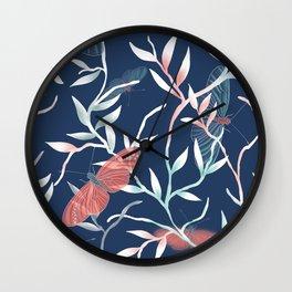 A butterfly's world Wall Clock