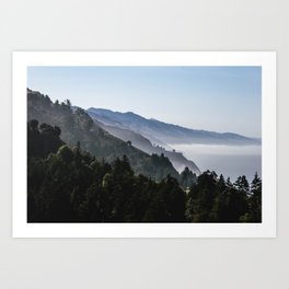 Blue Valley view Art Print