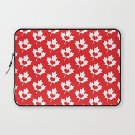 Canada Day Maple and Heart Laptop Sleeve