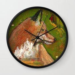 Heart of the Fox Wall Clock