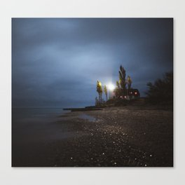 Point Betsie Lighthouse | Sleeping Bear Dunes, Michigan | John Hill Photography Canvas Print