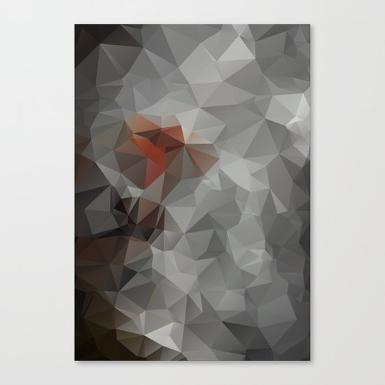 Abstract background of triangles polygon design bright colors Canvas Print
