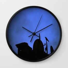 Incoming night on the city Wall Clock