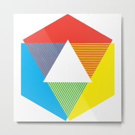 Color Wheel print, Color Chart Rainbow design by Christy Nyboer / Little Lark Metal Print