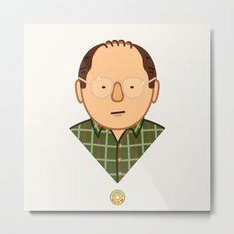 George Costanza - Seinfeld Illustration Metal Print