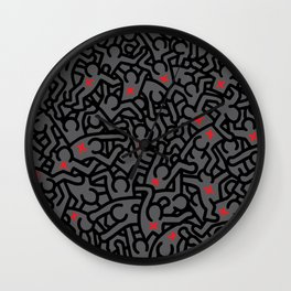 Keith Haring Variation #32 Wall Clock