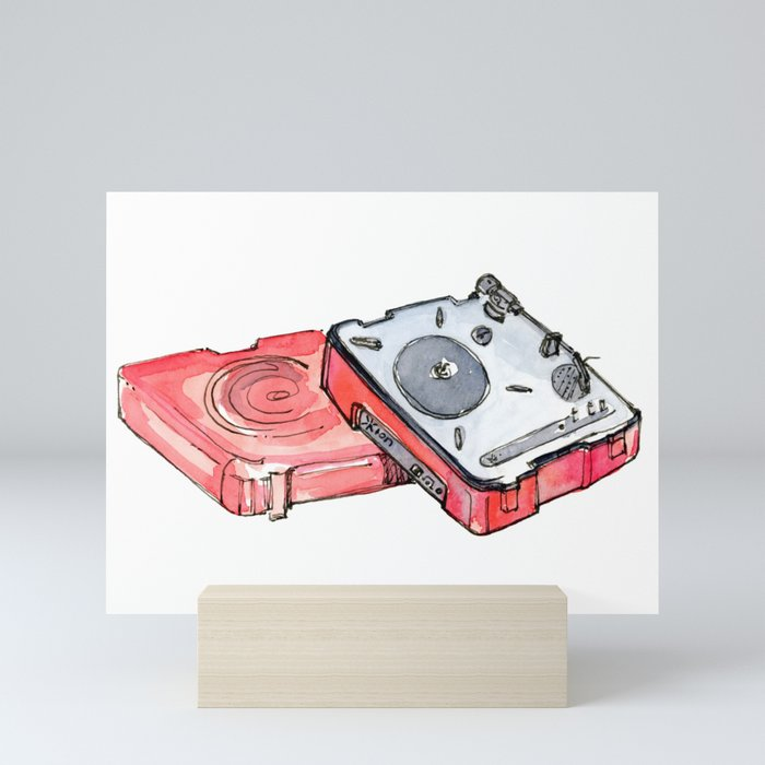 USB Turntable Mini Art Print by josiesksmith