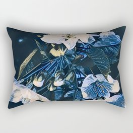 Digital Blossom Rectangular Pillow