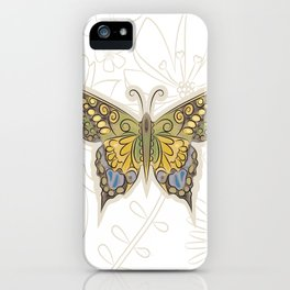 Antique Butterfly iPhone Case