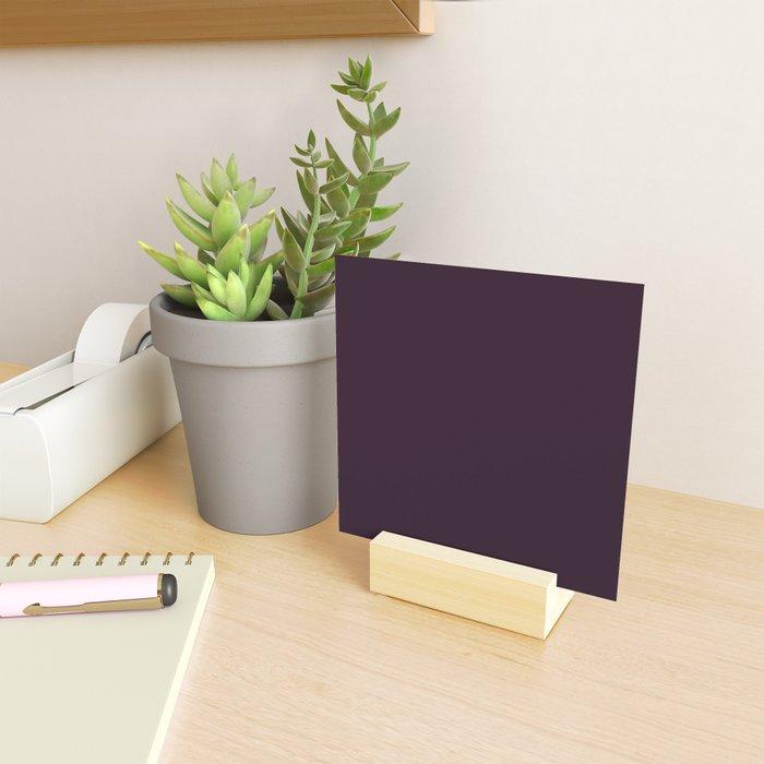 Simply Deep Eggplant Purple Mini Art Print