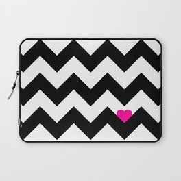 Heart & Chevron - Black/Pink Laptop Sleeve