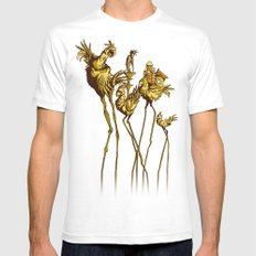 Dali Chocobos MEDIUM White Mens Fitted Tee