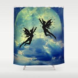 Moon Fairies Shower Curtain
