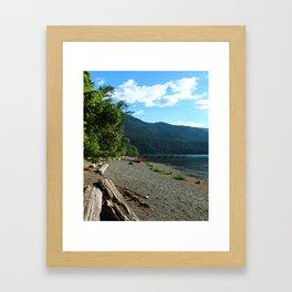 Lake Cresent Shore Framed Art Print