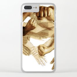 Fist of Sand Clear iPhone Case