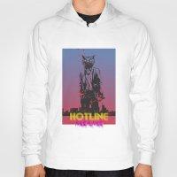 hotline miami Hoodies featuring HOTLINE MIAMI by Bertrand Nadal