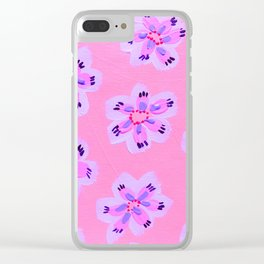 Pink Emily Claire Clear iPhone Case