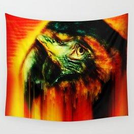 nightfall the parrot Wall Tapestry
