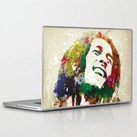reggae Laptop & iPad Skins featuring Reggae Music Man by Gary Grayson