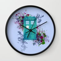 doctor who Wall Clocks featuring Doctor Who by Laain Studios
