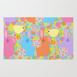 Bunnies and Friends Rug