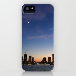 Jersey City Skyline at Night iPhone Case