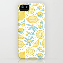 Lemon pattern White iPhone Case