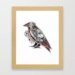 Steampunked crow Tattoo by Lorloves Design Framed Art Print