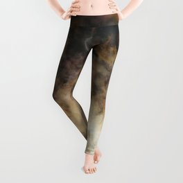 Solar Eclipse and Clouds Leggings