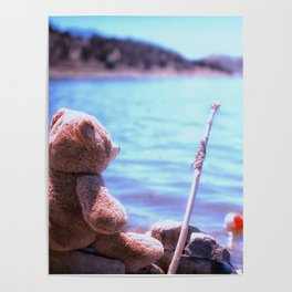 Have you ever seen a bear fishing? Poster