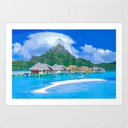 A Memorable Summer Vacation Art Print