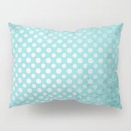 Beautiful textured limpet blue polka dot design Pillow Sham