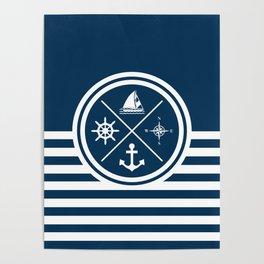 Sailing symbols Poster