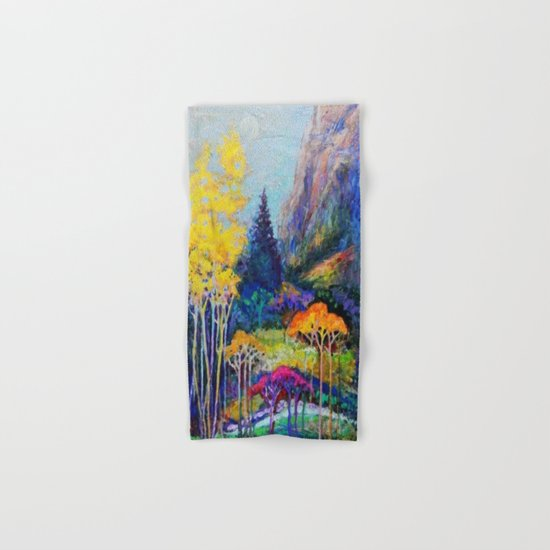 Mountain Aspen Trees  Landscape Hand & Bath Towel