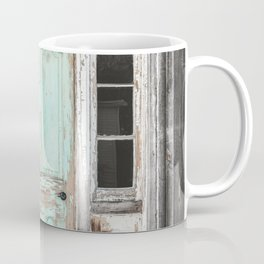 Barn Door Vintage Turquoise Coffee Mug