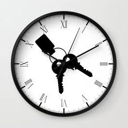Keys And Fob Wall Clock
