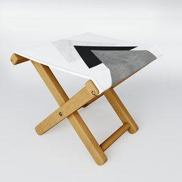 Arrows Monochrome Collage Folding Stool