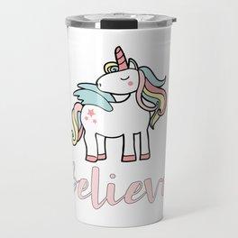 Alicorn Believe Pegasus Winged Unicorn Cute Gift Travel Mug