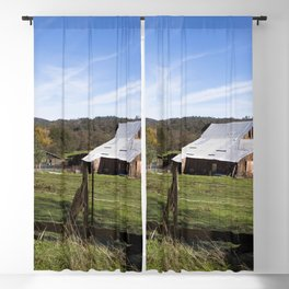 A sizable barn near the settlement of Bangor south of Oroville in Butte County California Blackout Curtain