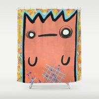 kit king Shower Curtains featuring KIT STUFF by Dave Carender