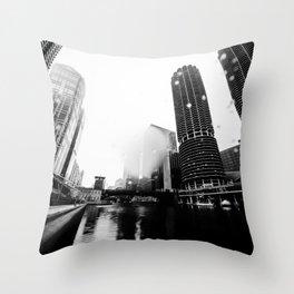 CHICAGO RAIN Throw Pillow