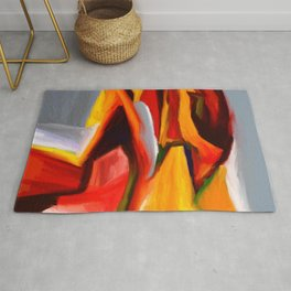 The Present Abstract Landscape Rug
