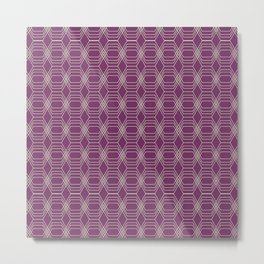 Hopscotch hex-Plum Metal Print