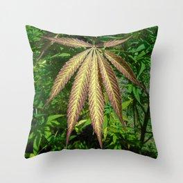 The Weeds In A Garden Throw Pillow