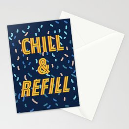 Chill & Refill Stationery Cards